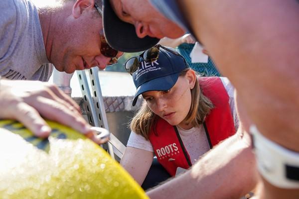inspecting monitoring buoy