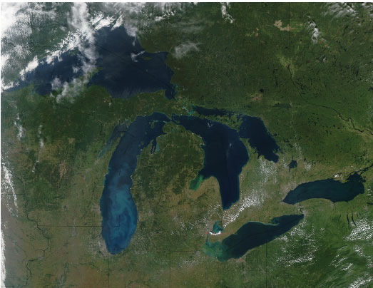 Satellite Image of Great Lakes - RAEON