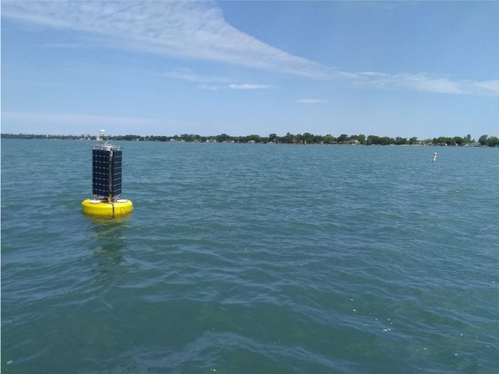 ErieWatch buoy in Lake Erie